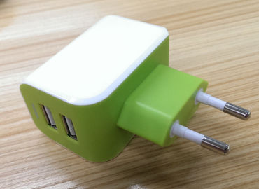 China European Plug Multi USB Travel Charger 3.1A Dual USB Port For IPhone / Galaxy supplier