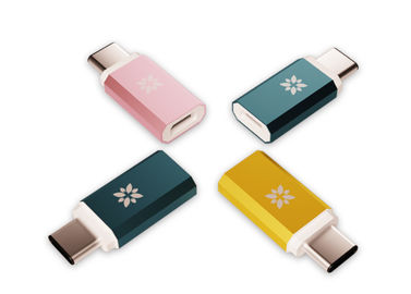 China Colorful USB To USB C Adapter , Fast Charging USB 3.1 Type C Cable Resistor factory