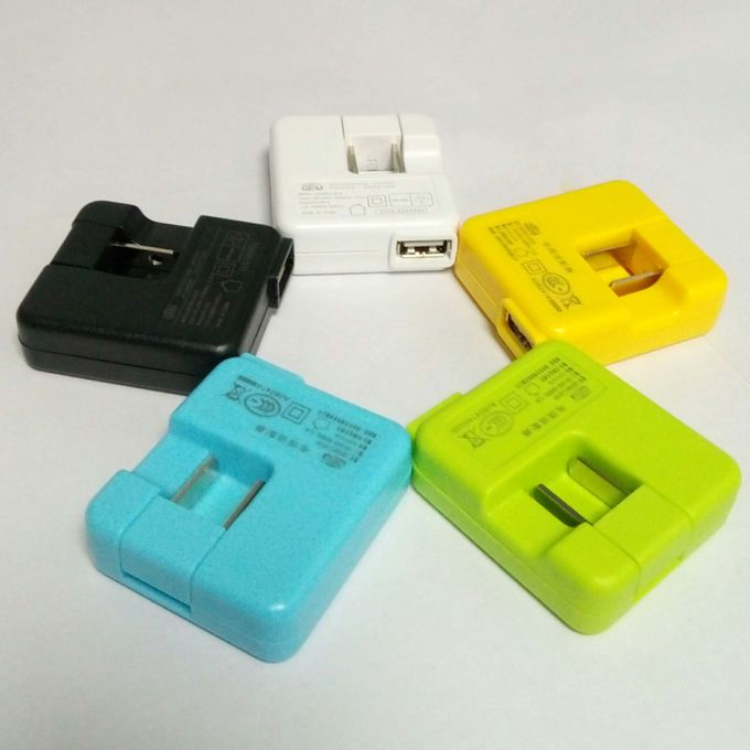 Colorful Travel Phone Charger , 180D Rotation Power Adapter For Mobile Phone