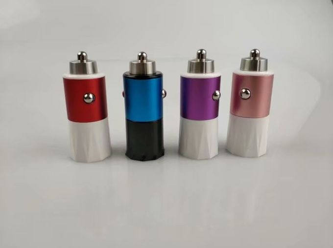 High Amp Mobile Phone USB Car Charger Dual USB Port With Metal Copper Housing