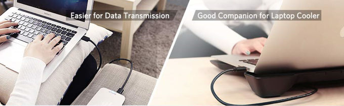 Double USB High Speed Usb Cable , Gold Plated Connector USB Data Transfer Cable